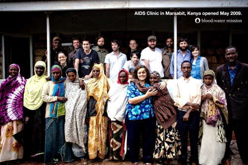 Jars of Clay, Jena Nardella, in Africa. Photo from bloodwatermission.com